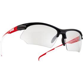 UVEX Sportstyle 802 V Glasses black red white/smoke